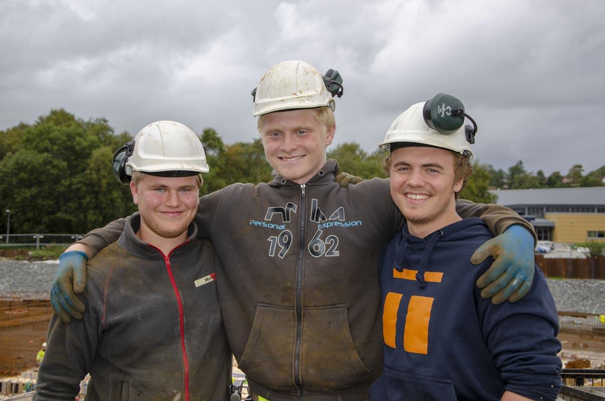 Tre nye betongfaglærlinger - Aktuelt - Total Betong AS